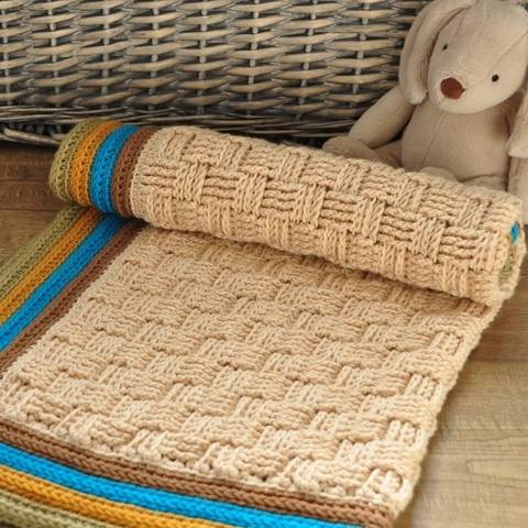 Retro Baby Blanket - Crochet Pattern at Makerist