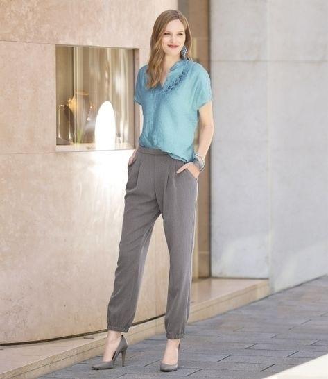 Elegante Trendhose mit Bundfalten und Eingriffstaschen bei Makerist - Bild 1