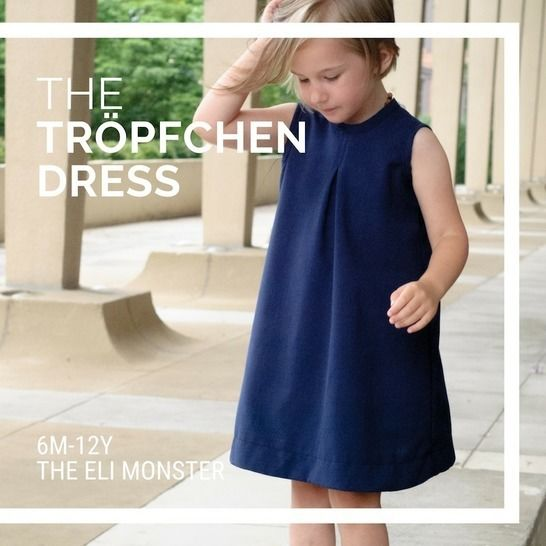 The Tröpfchen Dress Sized 6mo to 12y at Makerist - Image 1