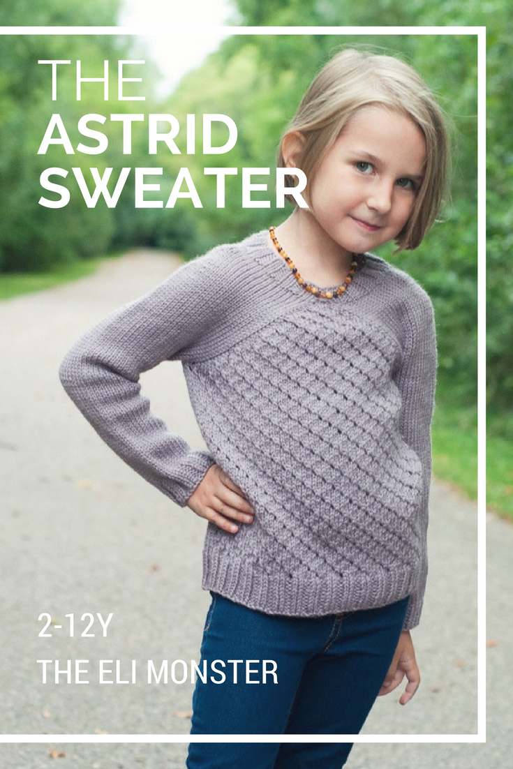 The Astrid Sweater Knitting Pattern Sized 2-12