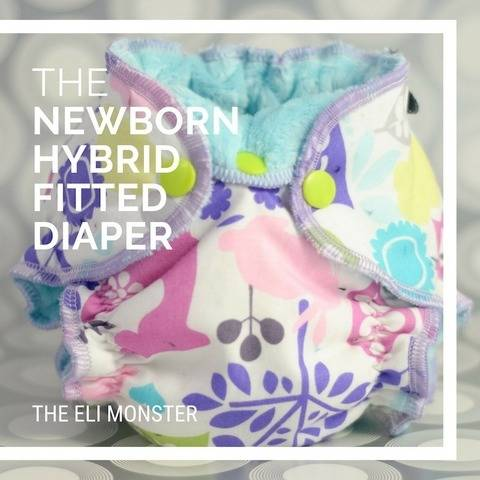 Newborn Hybrid Fitted Cloth Diaper PDF Sewing Pattern