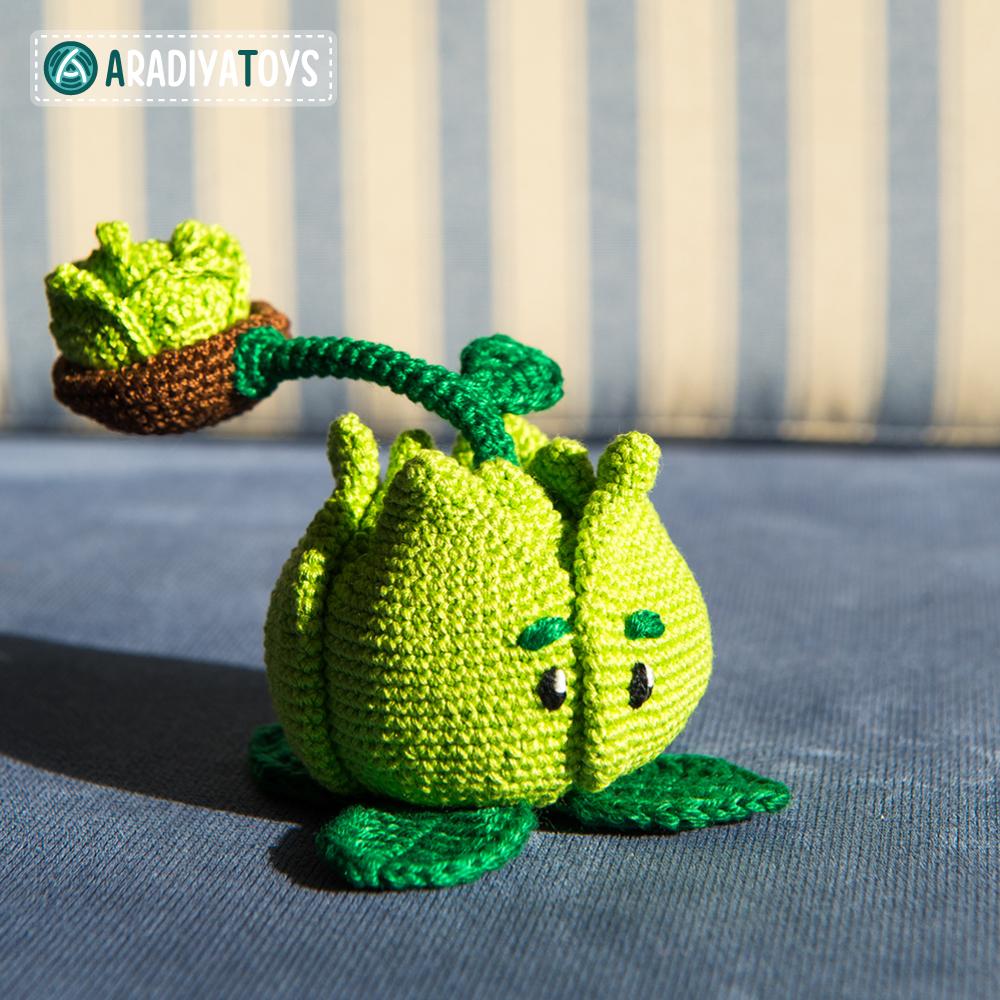 Crochet Pattern of Cabbage-pult by AradiyaToys
