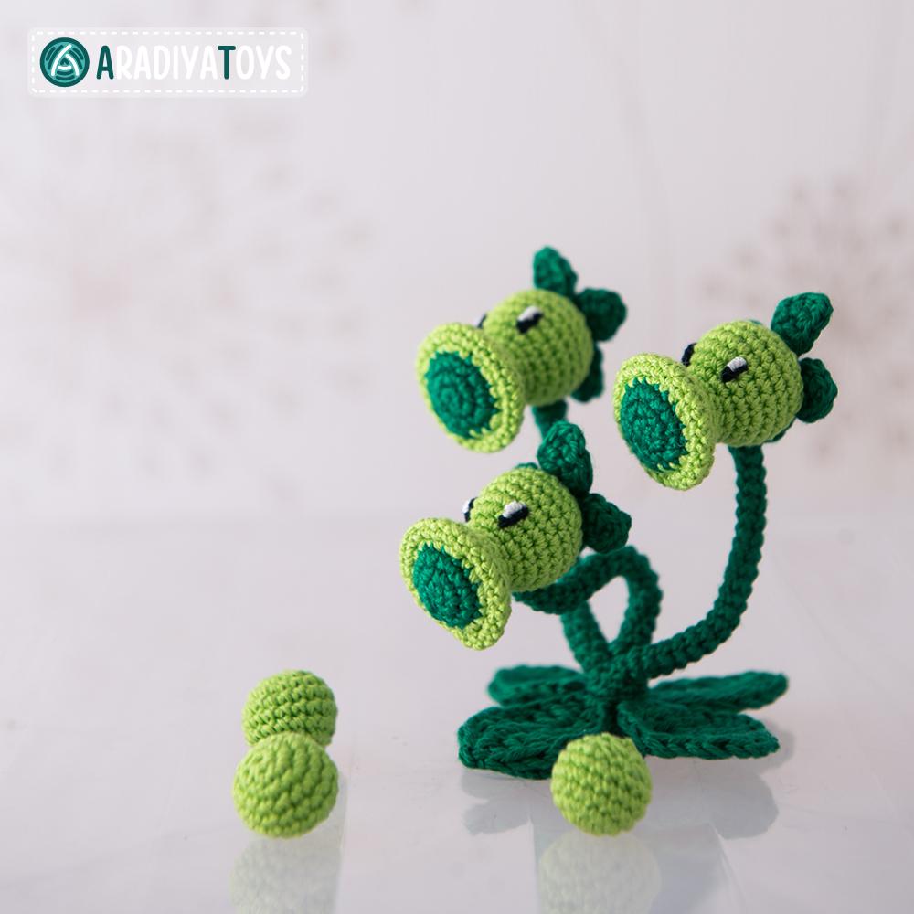 Crochet Pattern of Threepeater by AradiyaToys