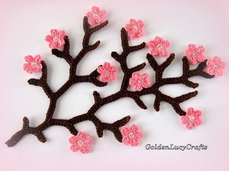 Crochet Pattern Cherry Branch  at Makerist - Image 1