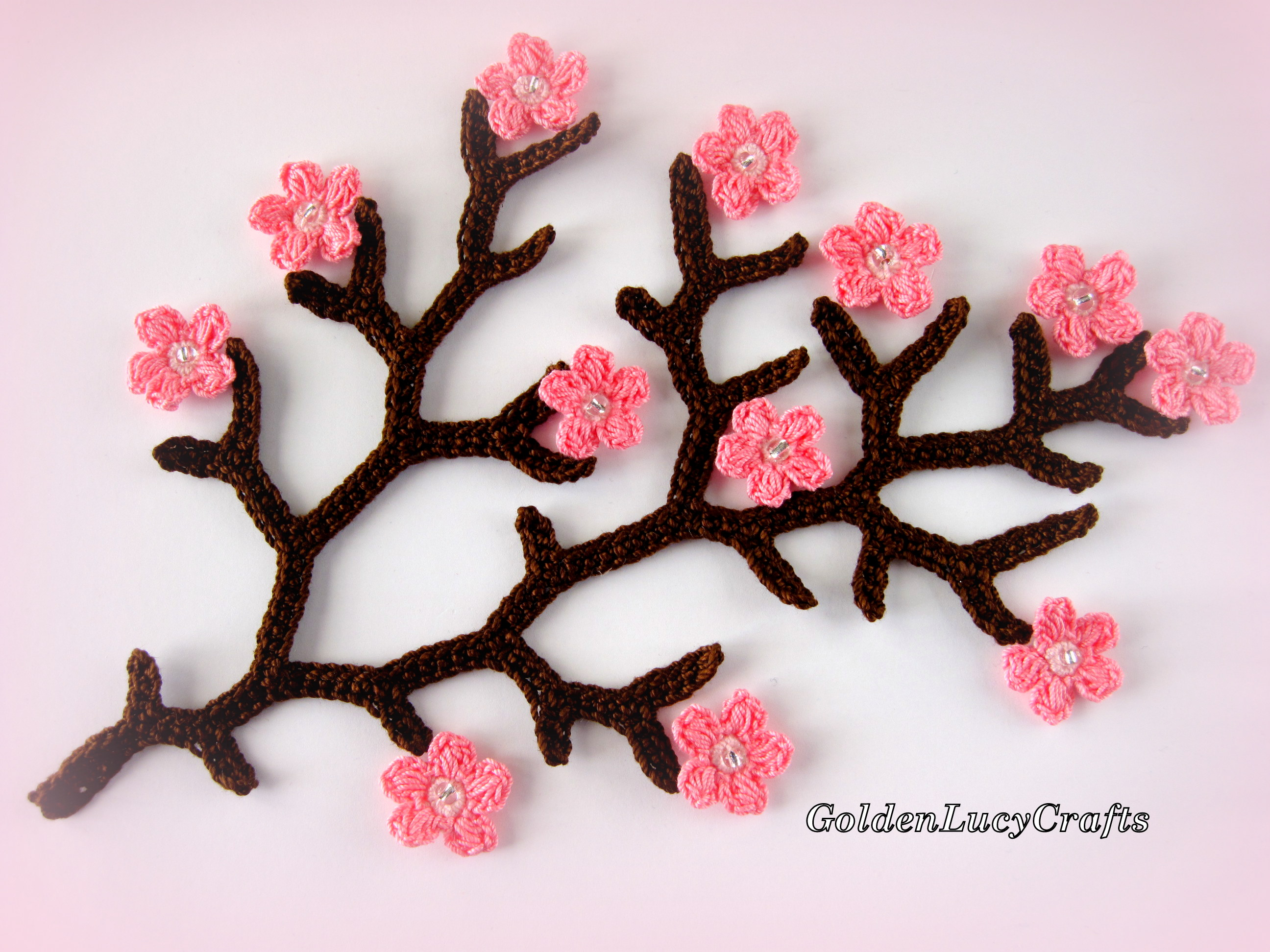 Crochet Pattern Cherry Branch
