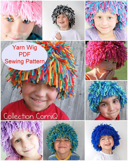 Yarn Wig Sewing Pattern for Children and Adult at Makerist - Image 1