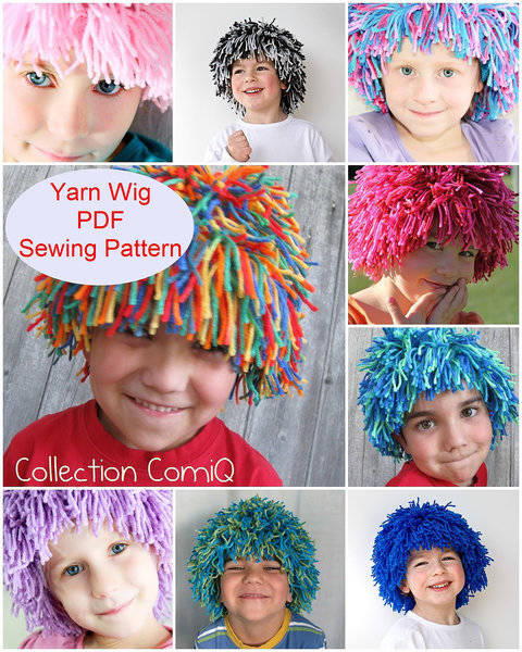 Yarn Wig Sewing Pattern for Children and Adult at Makerist