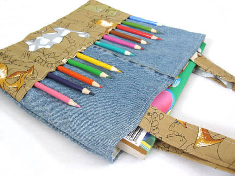 Coloring bag sewing pattern - Art bag for children tutorial at Makerist