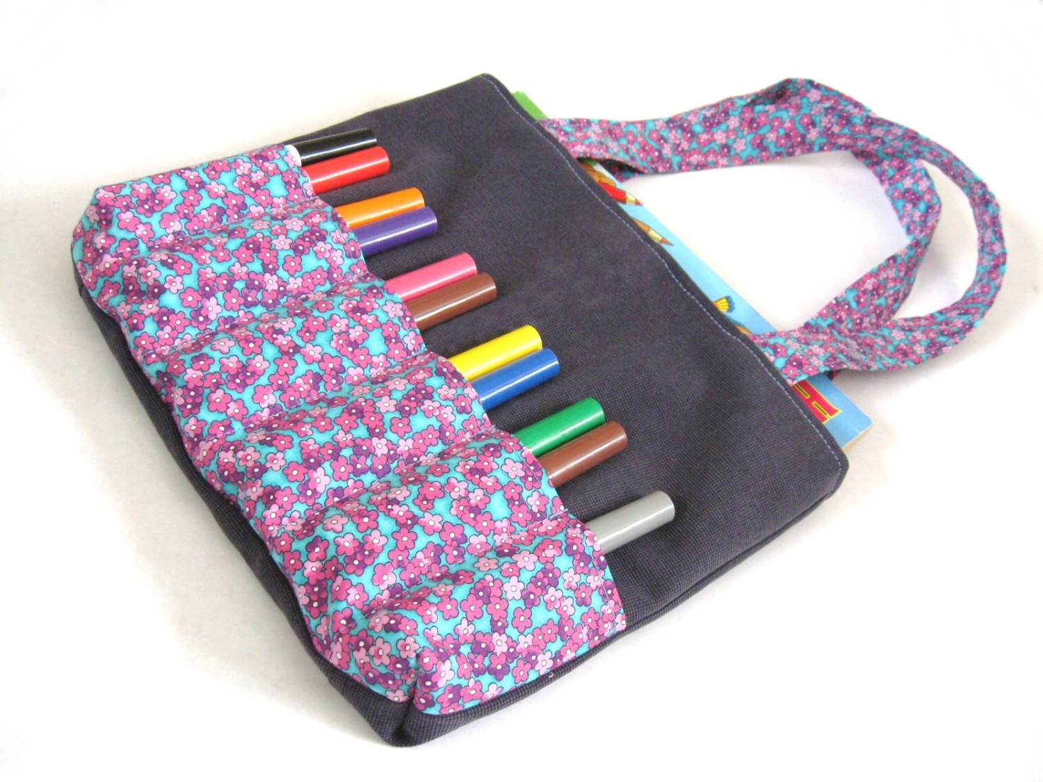 Markers Bag Sewing Pattern - Art bag for children tutorial