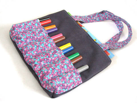 Markers Bag Sewing Pattern - Art bag for children tutorial at Makerist