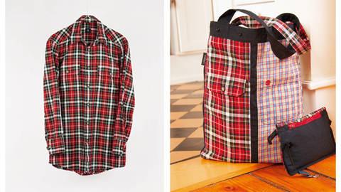 Upcycling: Shopper aus alten Hemden