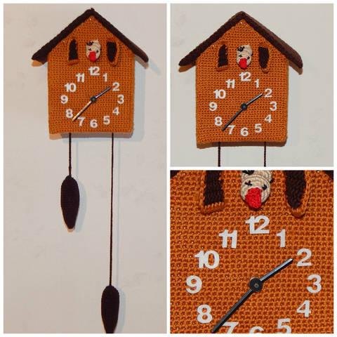 Häkelanleitung Kuckucksuhr mit echtem Uhrwerk
