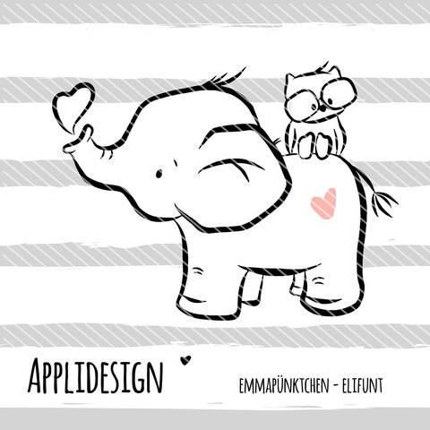 emmapünktchen ® - applikationsvorlage elifant bei Makerist