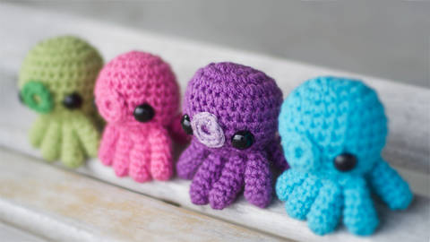 Baby Octopus Amigurumi Crochet Pattern at Makerist