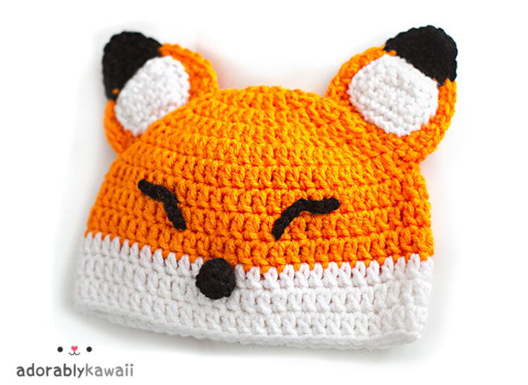 Sleepy Fox Baby Hat Crochet Pattern at Makerist - Image 1