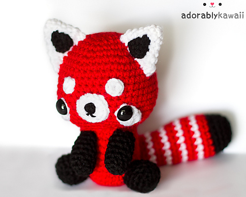 Red Panda Amigurumi Crochet Pattern