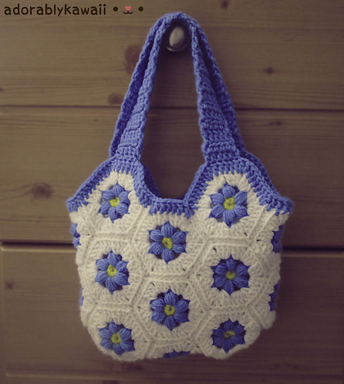 Flower Hexagon Bag Crochet Pattern at Makerist - Image 1