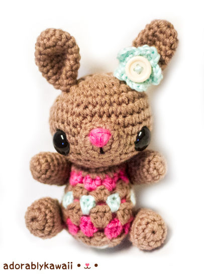Pretty Bunny with floppy ears - Crochet Pattern - Amigurumi Today | 546x406