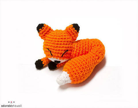 Mini Sleepy Fox Amigurumi Crochet Pattern