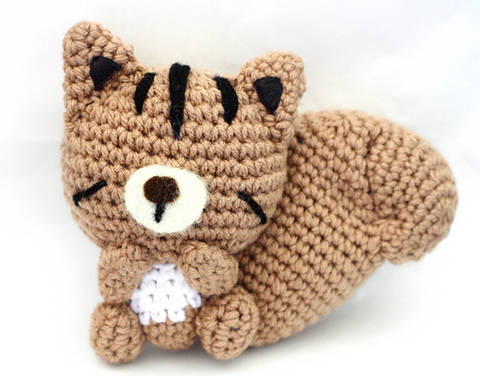 Sleepy Chipmunk Amigurumi Crochet Pattern