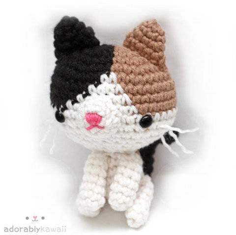 Calico Cat Amigurumi Crochet Pattern