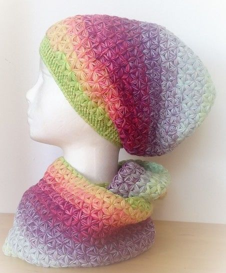 "crochet pattern Long Beanie ""Stars"" at Makerist - Image 1"