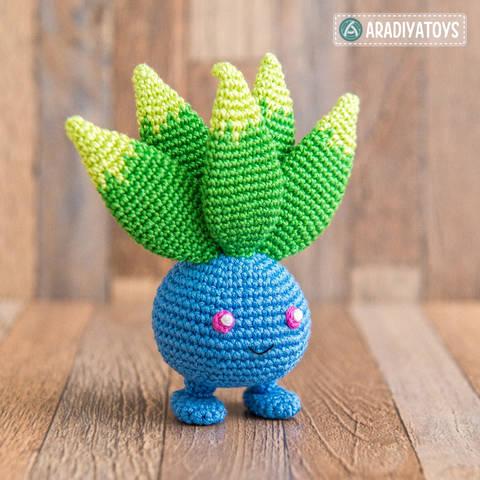 Crochet Pattern of Oddish by AradiyaToys