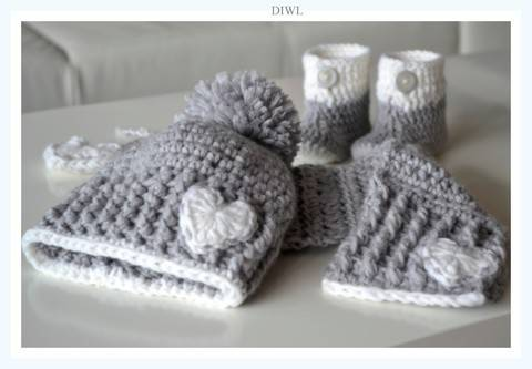 Häkelanleitung Gloria's Baby Winter Set