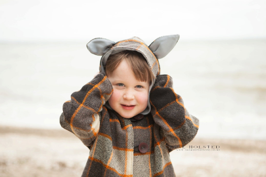 Animal Coat - PDF PATTERN - Sizes 12m -14 yrs
