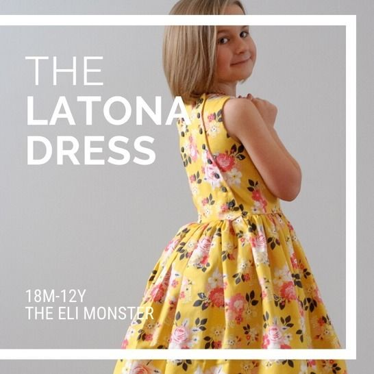 The Latona Dress Sewing Pattern Sized 18m-12y at Makerist - Image 1