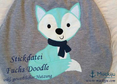 Stickdatei Fuchs 10x10 Doodle