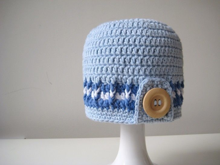 Crochet Hat, Surfer Boy Hats, Pattern No5, in both UK and US crochet terms at Makerist - Image 1