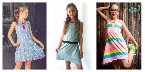 """Jerseykleid """"Luisa"""", Nähanleitung und Schnittmuster für die Größen 98 bis 164 bei Makerist"""