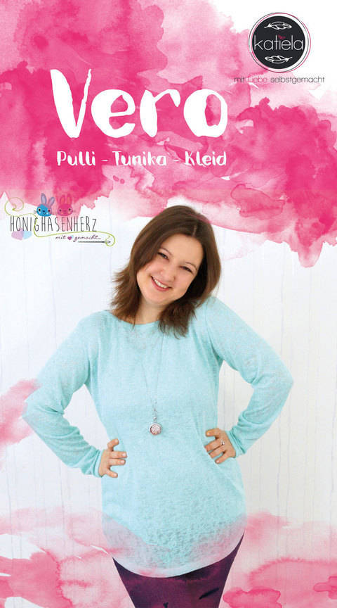 Vero - Pullover - Tunika - Kleid - leger und figurbetont Größe 32 - 42