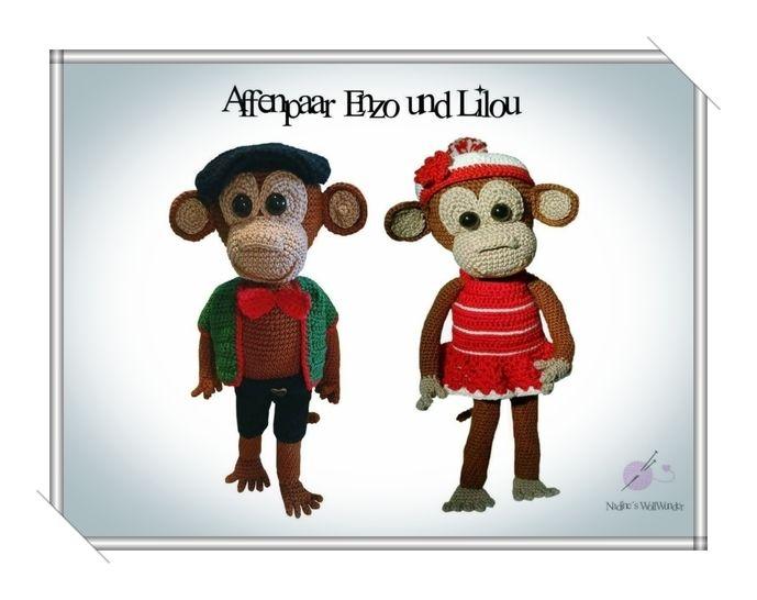 Häkelanleitung: Affenpaar Enzo und Liliu bei Makerist - Bild 1