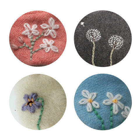 Wildflower Embroidery Collection at Makerist