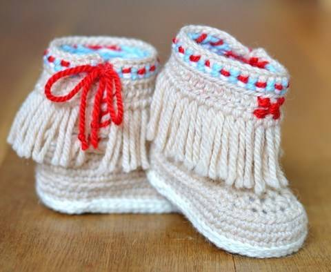 Baby Booties Fringe Moccasins at Makerist