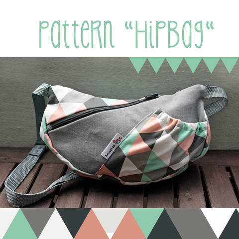 HipBag, belt pouch -  sewing pattern and detailed instructions at Makerist