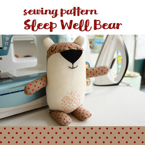 Bear plushie, cuddly toy - detailed pattern and sewing instructions at Makerist