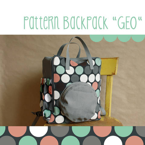 Rucksack, backpack GEO - pattern and detailed sewing instruction at Makerist