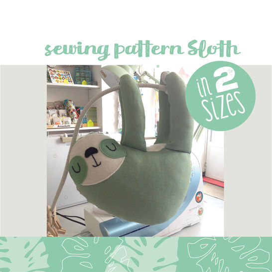 Sloth plushie, cuddly toy - sewing instructions at Makerist - Image 1
