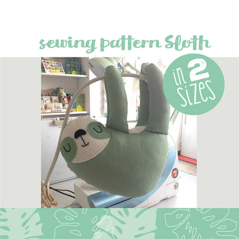 Sloth plushie, cuddly toy - sewing instructions at Makerist