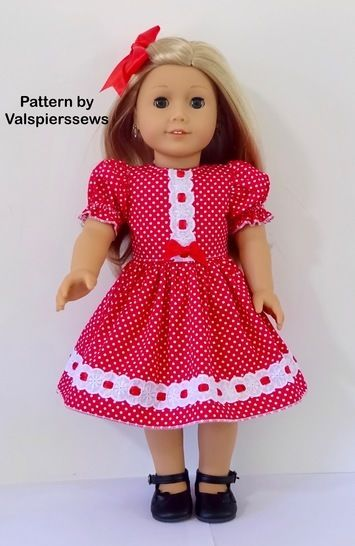 "The 18"" Dress: A Lined Bodice Pattern to fit popular 18"" dolls at Makerist - Image 1"