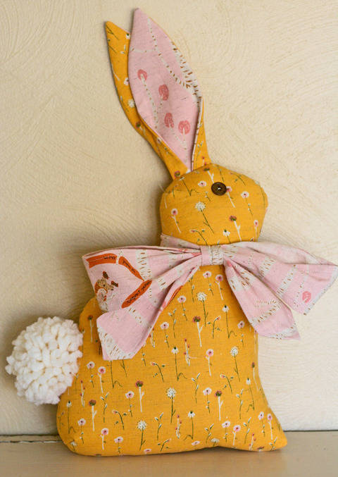 Modern Folksy Bunny & Kitty PDF Sewing Pattern at Makerist