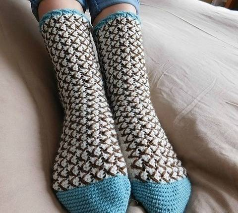 Mint chocolate chip - chaussettes à crocheter chez Makerist