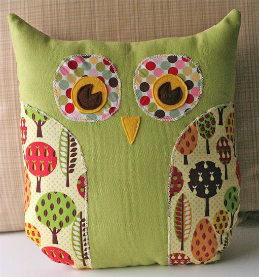 Lola Owl Pillow and Tote Bag PDF Sewing Pattern at Makerist - Image 1