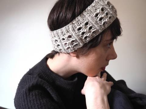 Headband Ivoire - explications tricot chez Makerist