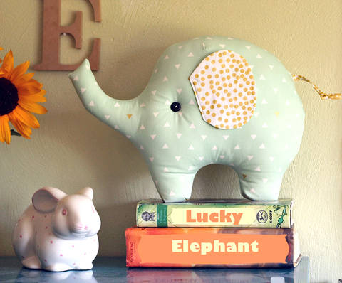 Lucky the Elephant Pillow PDF Sewing Pattern at Makerist