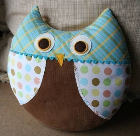 Max the Owl & Philomena Fox Pillow PDF sewing pattern