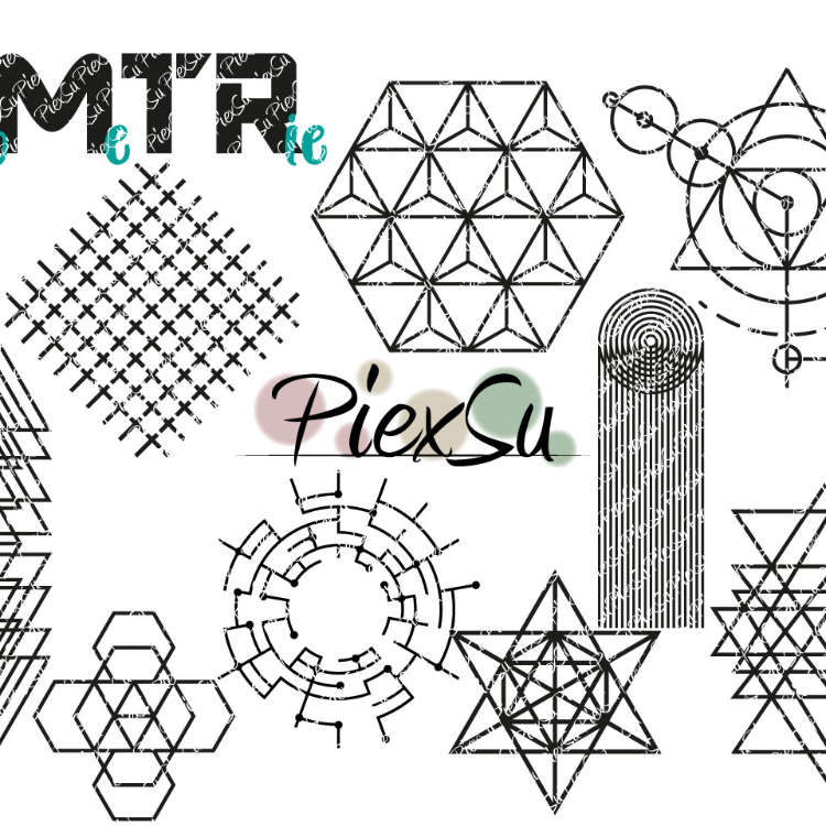 "DXF, SVG Cutting File Set ""geometry"" by PiexSu"